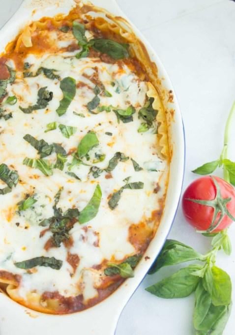 Easy, Speedy Blue Cheese Lasagna