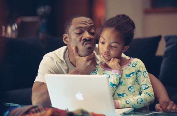 Eddie Murphy shares a moment in Imagine That