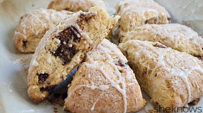 Chocolate chunk-eggnog scones are better than