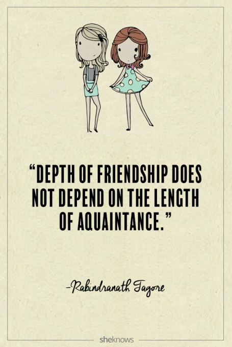Rabindranath Tagore quote about friendship