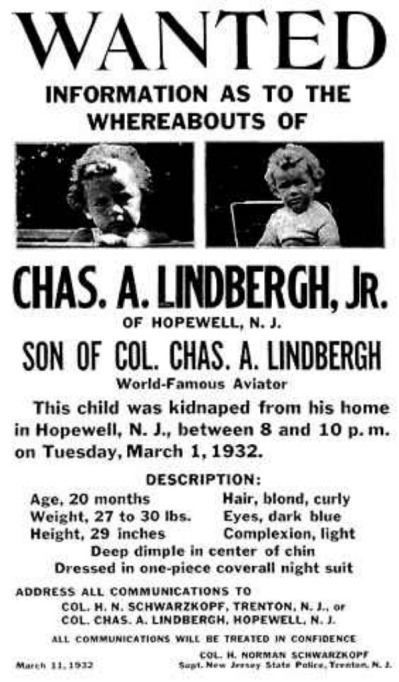Lindbergh baby picture