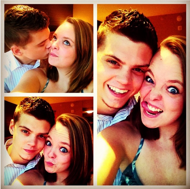 Tyler Baltierra and Catelynn Lowell selfies