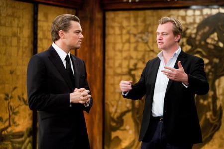 Leonardo DiCaprio and Inception director Christopher Nolan