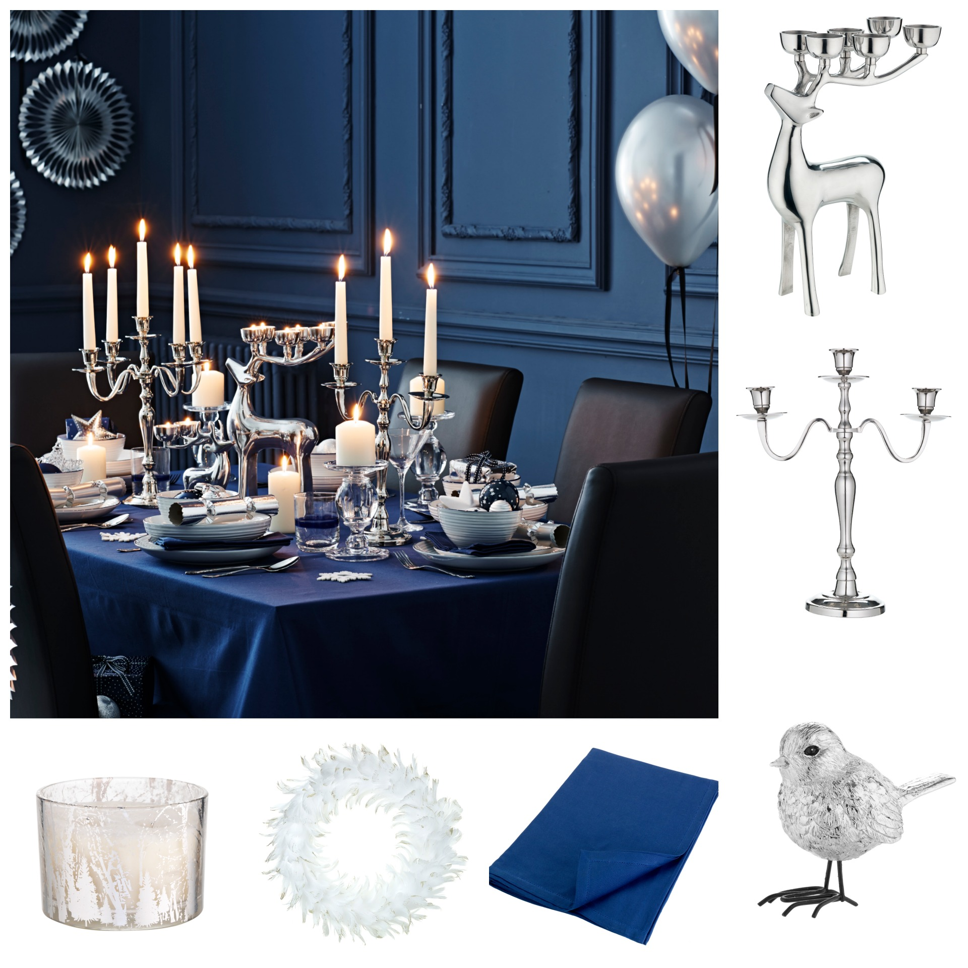 A stylish winter table setting will impress your guests