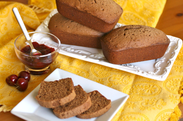 Individual Pound Cakes with Cherry-port Topping