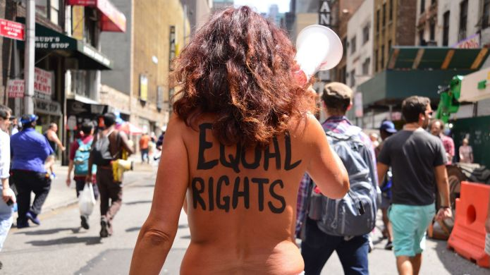 Go Topless Day passes largely unnoticed
