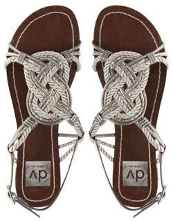Seen here: Sandals