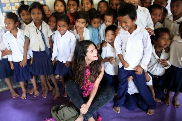 Selena Gomez Nepal UNICEF