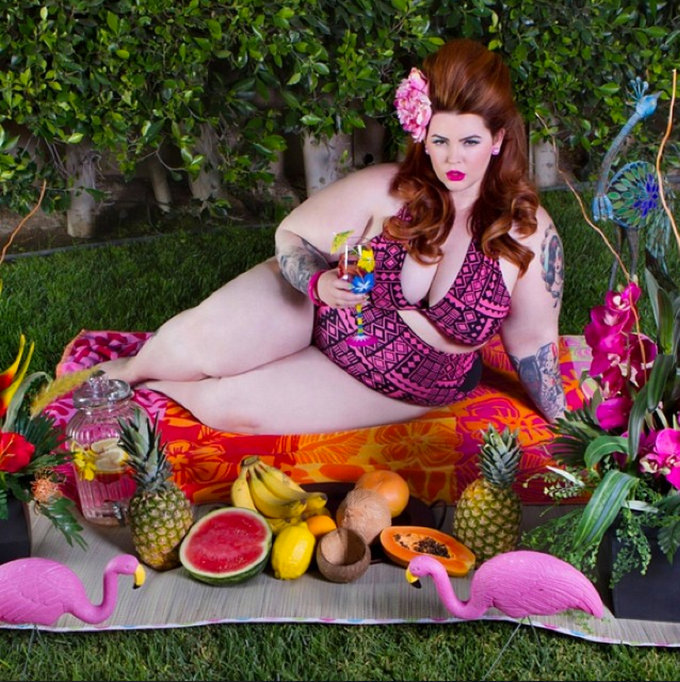 Tess Holliday mom and plus-size model