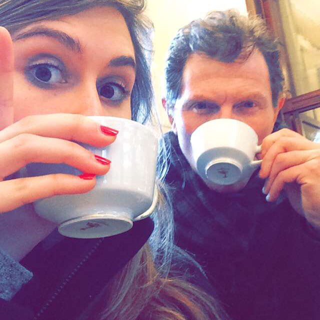 Bobby Flay and Sophie Flay in Florence