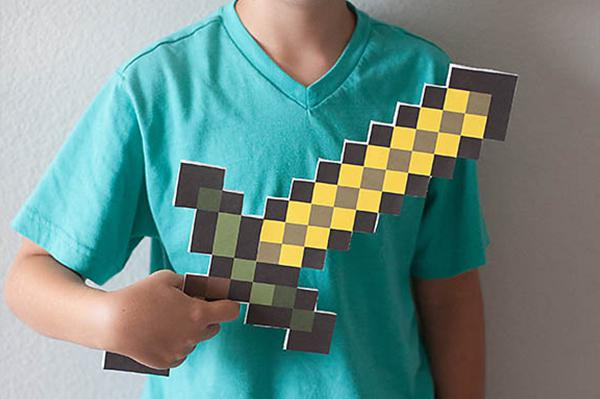 Minecraft crafts for kids