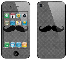 Apple iPhone 4 or 4S mustache decal