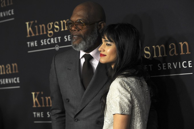 Samuel L. Jackson and Sofia Boutella