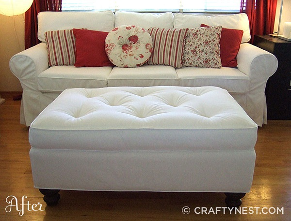 Clean and crisp ottoman