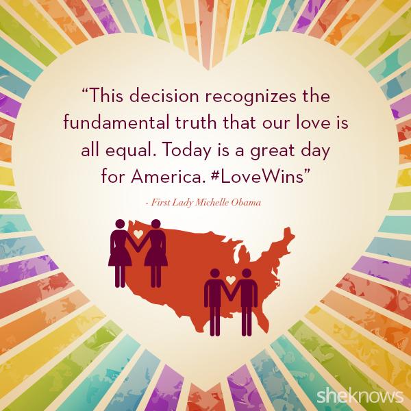 Michelle Obama same-sex marriage quote