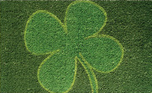 Four-leaf clover doormat