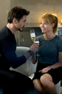 Robert and Gwyneth toast Iron Man 2