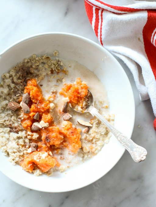Easy Winter Breakfast Ideas | Maple and Brown Sugar Oatmeal with Sweet Potato