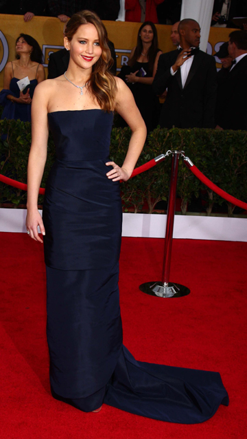 Jennifer Lawrence's 2013 SAG Awards Gown