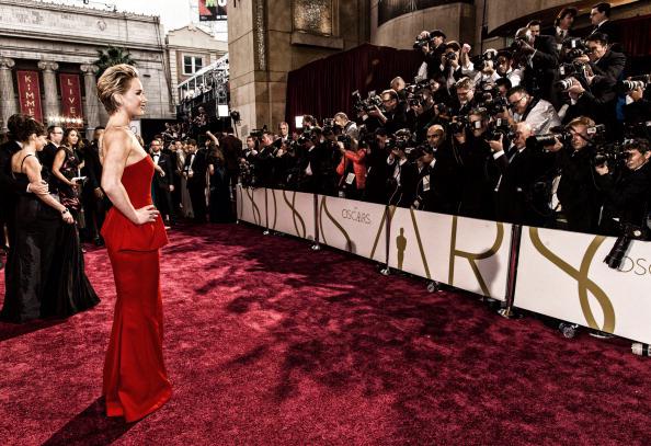 Jennifer Lawrence at the 2014 Oscars