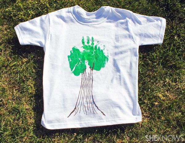 DIY Earth Day tree shirts
