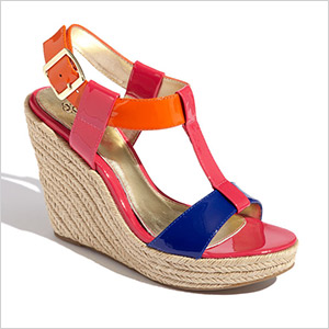 isola color block wedges