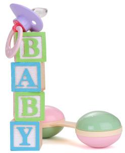 Isolated baby blocks