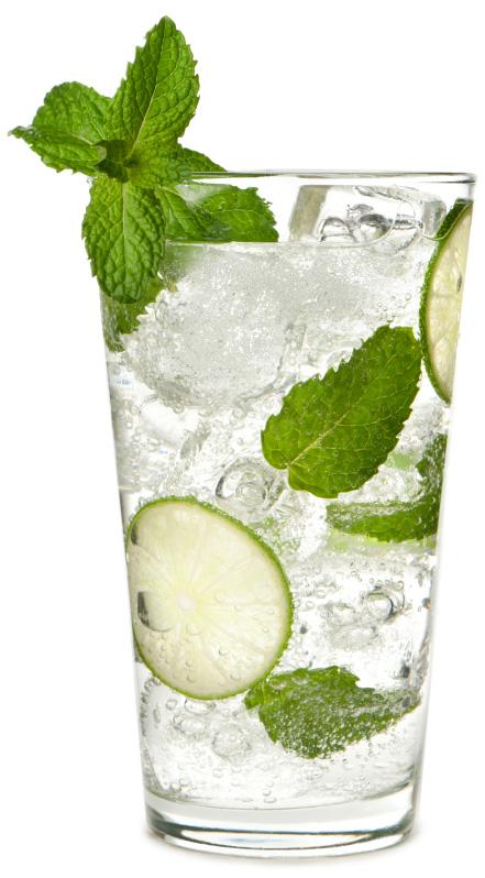 mint in water