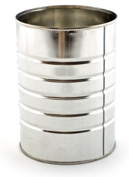 Coffee cans and spice tins