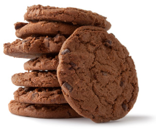 Double chocolate chip cookie
