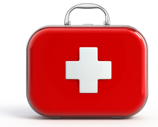 Isolated first aid kit