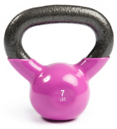 isolated kettle bell