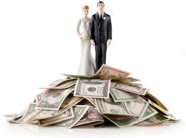 Cake topper with money