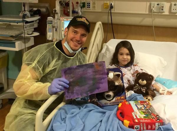 Chris Pratt with fan