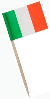 Italian flag toothpick