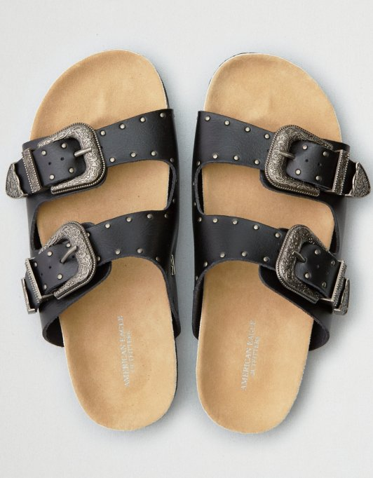 AE western buckle molded footbed sandal