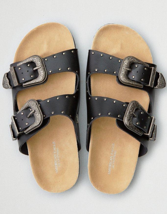 AE western buckle molded footbed sandal
