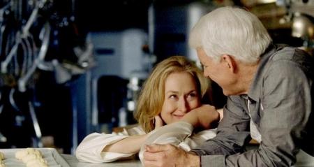 Meryl Streep and Steve Martin share a moment