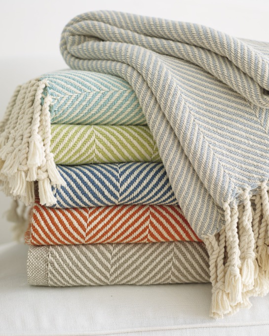 Luxe Throws For Your Bed or Sofa This Season | Brahms Mount Herringbone Throw