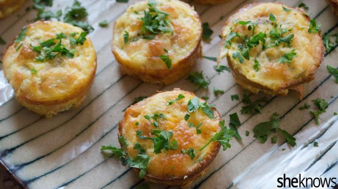 Green chili-bacon omelet muffins are perfect