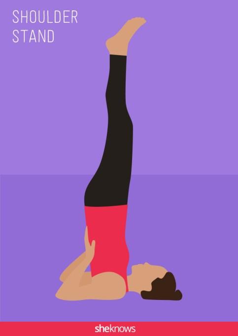Shoulder stand illustration