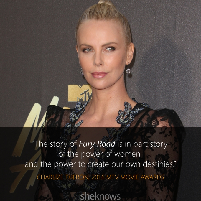 Charlize Theron quote MTV Movie Awards