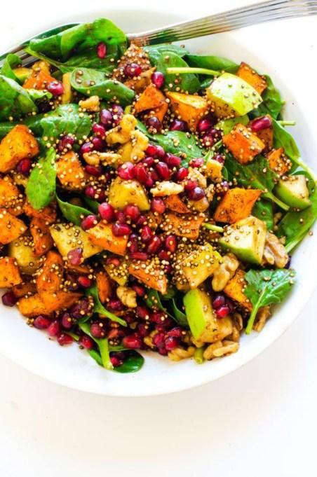 50 Easy Summer Salads: Sweet Potato, Pomegranate And Crispy Quinoa Salad | Summer Eats