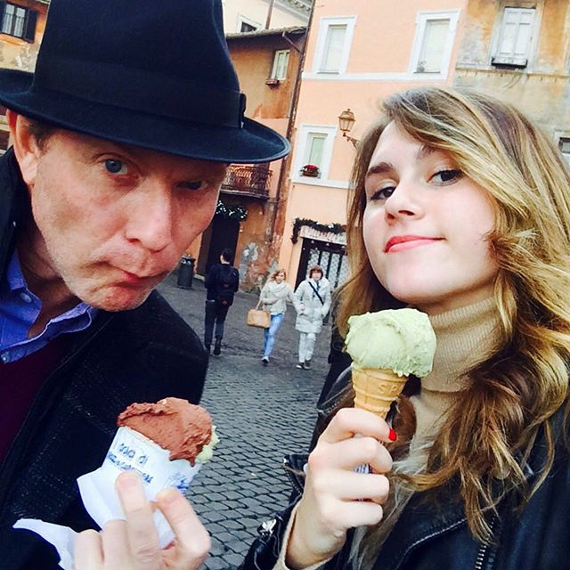 Bobby Flay and daughter Sophie in Florence