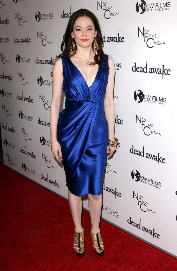 Celebrity style: Rose McGowan in blue