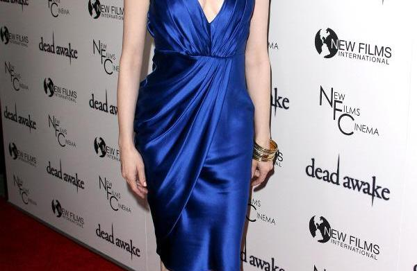Celebrity style: Rose McGowan in blue
