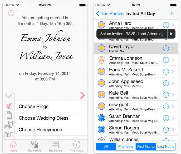 Wedding deluxe app