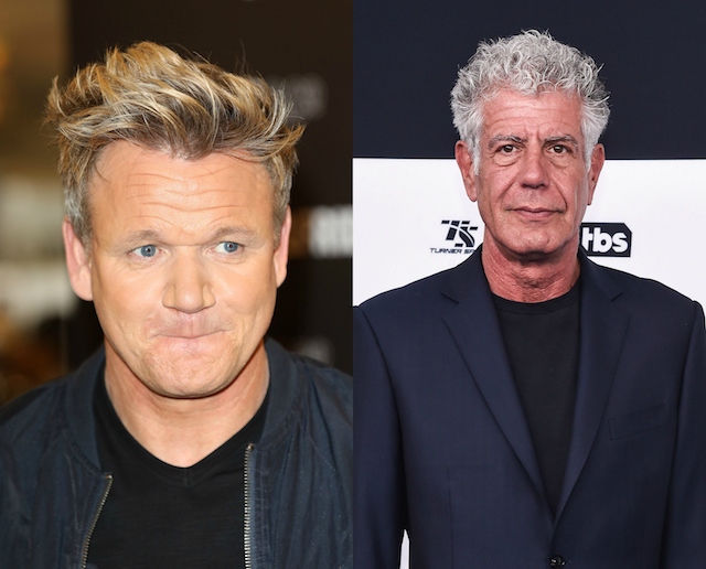 Gordon Ramsay's has been with a lot of people: Anthony Bourdain