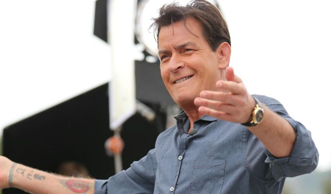 Charlie Sheen on stage