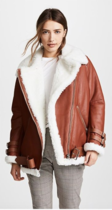 Perfect to Wear Shearling This Season | The Oversized Moto
